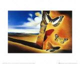 Paysage aux papillons Reproduction d'art par Salvador Dalí