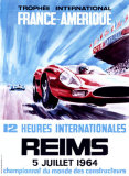 12 Heures Internationale, Reims, 1964 Giclée par James Blank