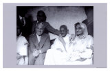 Charlie Chaplin and Ghandi in East London  23rd of September  1931