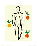 Nu aux oranges Reproduction d'art par Henri Matisse