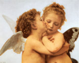 The First Kiss  c1873 (detail)