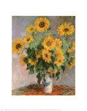 Les tournesols, vers 1881 Reproduction d'art par Claude Monet