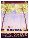 Côte d'Azur Giclée par Jean-Gabriel Domergue