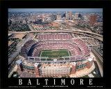 Baltimore: premier match au stade de Raven à Camden Yards Reproduction d'art par Mike Smith