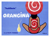 Orangina fruitillante Giclée par Bernard Villemot