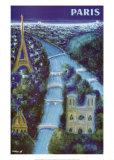 Paris Reproduction d'art par Bernard Villemot