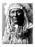 Nez Perc Head Dress Giclée par Edward S. Curtis