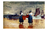 Fisherwomen at Tynemouth Beach