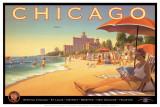 Chicago et l'air du Sud Reproduction d'art par Kerne Erickson