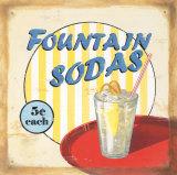 Fountain Sodas Reproduction d'art par Lisa Alderson