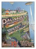Parc d'attraction de Palisades Giclée