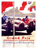 Grand Prix Allemagne Giclée par Alfred Hierl