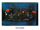 Abenteur - Schiff Reproduction d'art par Paul Klee