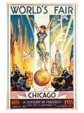 Foire internationale de Chicago, 1933 Giclée par Glen C. Sheffer