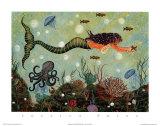 La sirène rouge Reproduction d'art par Jessica Fries