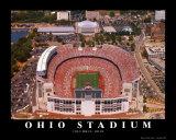 Ohio Stadium Reproduction d'art par Mike Smith