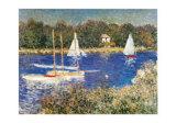 Bassin D'argenteuil, C. 1874 Reproduction d'art par Claude Monet