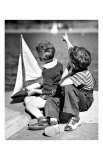 Two Boys with Sail Boat