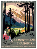 Mt Blanc Chamonix Giclée par Roger Broders