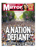 A Nation Defiant 500 000 Flock in Face of Bombers