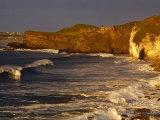 14th Century Dunluce Castle on Coastal Cliffs  Antrim  Northern Ireland