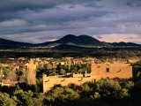 Buildings with Mountain in Distance  Santa Fe  USA