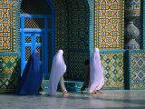 Worshippers Visiting Shrine of Hazrat Ali (Blue Mosque)  Mazar-E Sharif  Afghanistan