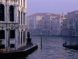 Early Morning Mist on Grand Canal Venice  Italy