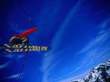 Skier Jumping on a Quarter Pipe  Stryn  Sogn Og Fjordane  Norway