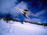 Skier Jumping in Half Pipe  Risoul  Haute-Normandy  France