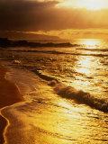 Sunset at the Beach on the North Shore  Pupukea Beach Park  Oahu  Hawaii  USA