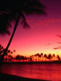 Sunset at Anaehoomalu on the Kohala Coast  Waikoloa  Hawaii (Big Island)  Hawaii  USA