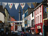 Street Decorated with Buntings and Signs  Ennis  Ireland