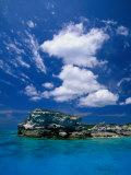 Electric Blue Water Surrounds Conception Island  Near Long Island  Bahamas