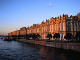 Exterior of Winter Palace on Neva River  St Petersburg  Russia
