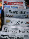 Selection of Hungarian Newspapers  Budapest  Hungary