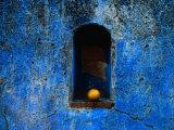 The Weathered Blue Facade to Santa Maria Tonantzintla Puebla  Mexico