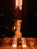 Cable Car Tracks on California Street  San Francisco  USA