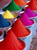 Multicoloured Tika Display in Devaraja Market  Mysore  Karnataka  India