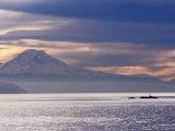 Mt Rainier from a Ferry on the Seattle to Bainbridge Island Run  Seattle  Washington  USA
