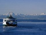 Wa State Ferry Nearing Colman  Seattle  Washington  USA