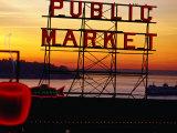 Pike Place Market Sign  Seattle  Washington  USA