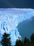Overhead of Perito Moreno Glacier with Rainbow  Los Glaciares National Park  Argentina