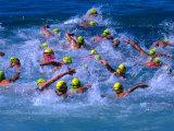 Surf Swim at Bondi Beach  Sydney  Australia