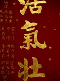 Calligraphy Detail from the Man Mo Temple in Hong Kong