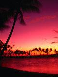 Sunset at Anaehoomalu Beach  Waikoloa  Hawaii  USA