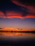Sunset Over Water in the Amazon Region  Amazonas  Peru