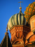 Detail of Onion Domes of St Basil's Cathedral  Moscow  Russia