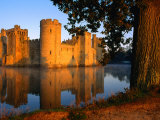 Bodiam Castle Reflected in Moat  East Sussex  England