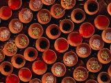 Grains and Tika Powder for Sale for Offerings at Dasaswamedh Ghat  Varanasi  Uttar Pradesh  India